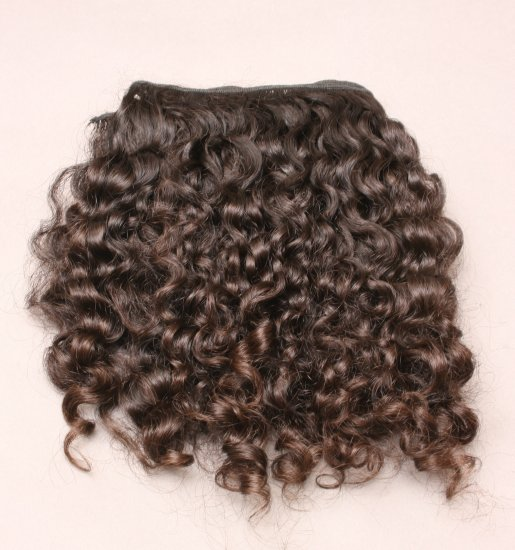 Machine Weft Curly Indian Remy Hair