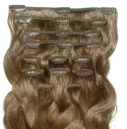 Wavy Clip-on Hair Extensions